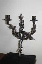 Candle Wall Sconce -Bronzed Metal -1.4 kg