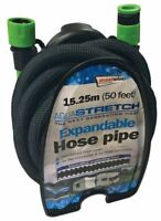 Streetwize Durable Aquastretch Expanding Magic Garden Water Hose Pipe - 15m 50ft