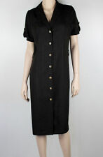 Polyester Work Solid Shirt Dresses