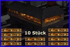 S332 - 10 pcs LED Interior Lighting 5cm Warm White Railway Control Tower