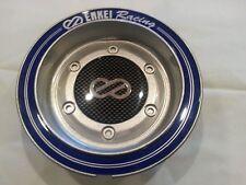 Enkei wheel center cap Silver with blue writing CC074 rim