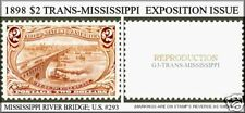 U.S. #293 1898 TRANS-MISSISSIPPI REPRODUCTION