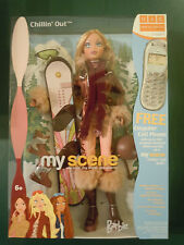 CUTE ! ! My Scene Chillin' Out  Barbie 2003 With Snowboard And Accessories NRFB
