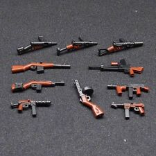10pcs custom LEGO Minifigure Toy Guns Military Minifigures Weapon Army lot