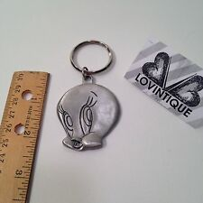 Vintage Wb Looney Tunes Tweety Bird Keychain Rawcliffe Pewter Key Chain Usa