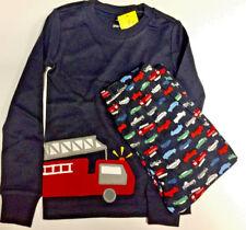 Gymboree Fire Truck Fire Engine Siren Pajama Sleepwear Set Boys Size 10 (NEW)