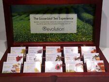 (130,98 EUR / 100 Gramm) Wooden Display Box Revolution Tea with 15 varieties