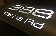 Stainless Steel House Sign LED Light Box Custom Made - Marine Grade Stainless