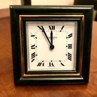Authentic Vintage CARTIER Mechanical Desk Travel Alarm Clock Roman Dial
