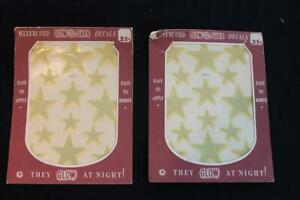 "2 LARGE PIECE SET OF GLOW STAR VINTAGE 1930'S-1940'S  DECALS 7"" X 9"""