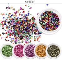 Broken Gems Rhinestones Glass Stones for Nail Crystals Nail Art Decorations Tips