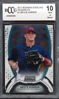 2011 Bowman Sterling Prospects #1 Bryce Harper Rookie Card Graded BCCG 10