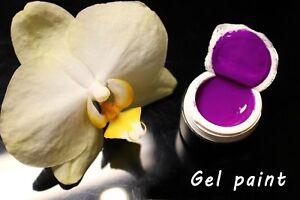 Purple Gel paint Farbgel 5 ml for Nail Art like Emi