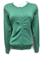 August Silk Women's Cardigan, size M,  green,  Silk Blend