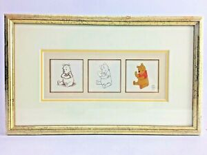 Framed Winnie the Pooh Print from Animation Cels