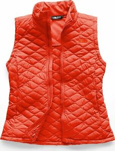 The North Face Thermoball Vest size L $149 Slim Fit Valencia Orange