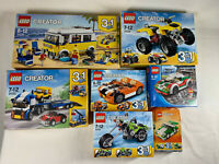 BUNDLE OF 7 BOXED LEGO CREATOR 3 IN 1 LEGO SETS 31079 31033 31022 INCOMPLETE