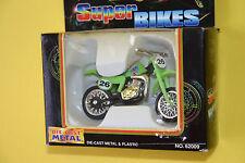 Rare Motormax Super Bikes Kawasaki Kx Motorcycle 1:24 Diecast Model toy Misb