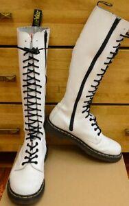 Dr Martens 1B60 High, White, 20 Eye Women's Shoes, Boots, Size UK 6 EU 39