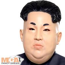 Kim Jung Un Mask Mens Fancy Dress Korea Dictator President Costume Accessory