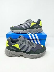 Adidas Yung 96 Sneakers Casual Carbon/Grey Four/Solar Yellow Mens Size 9.5