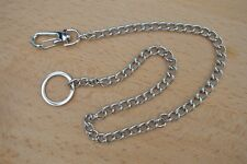 Silver Metal Keyring/ Hipster Keychain for Key, Wallet etc (Total length: 40cm)