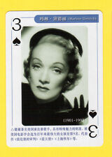 Marlene Dietrich Model Movie Film TV Pop Star Playing Card
