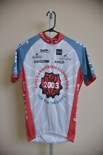 Nike Lance Armstrong Short Sleeve 1/2 Zip Cycling Jersey Gray Red Roses Men's S