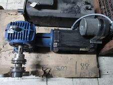 Pacific Science Brushless DC Motor w/ Gear F184A1A0N001000 5HP 184T Frame Used
