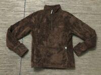 The North Face Adult Womens Medium 1/2 Half Zip Pull Over Fleece Sweater Brown