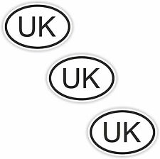 3x Oval Black & White Stickers United Kingdom UK Small Code Tablet phone Case