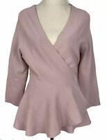 Portmans Womens Peach Long Sleeve Knit Wrap Cardigan Size M