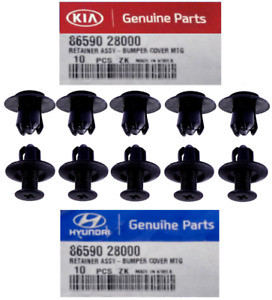OEM Hyundai Kia 10Pcs Bumper Push Retainers Fender Liner Hood Rivets Screw Clip