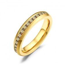 Ring Edelstahl gelb Miami White mit Glasstein Farbe topaz Serie Beauty