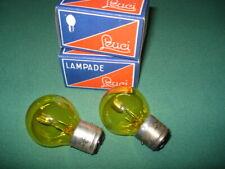 Paire d'ampoules jaune 6 V , 45/40 W,   BA 21D , marque Leuci