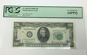 1950D $20 Federal Reserve Note Fr2063-D Very Choice New PPQ
