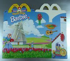 ANCIENNE BOITE HAPPY MEAL McDONALD'S / VINTAGE TOY BOX / BARBIE HOLLANDE MEXIQUE