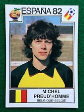 ESPANA 82 n 217 BELGIO PREUD'HOMME , Figurina Sticker Calciatori Panini NEW
