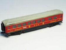 Vagones de pasajeros de escala H0 rojos analógicos para modelismo ferroviario