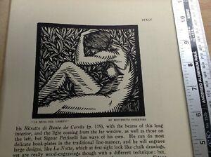 1920s Woodcut print La Musa Del Loreto by Benvenuto Disertori