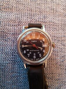 Vintage 1975 Timex Sprite Military Dial Manual Wind Watch.