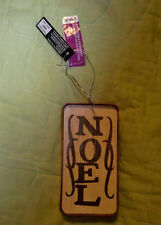 Celebrate It*Wood and Metal Ornament*Noel