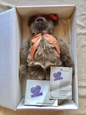 """Vintage Annette Funicello Huge 22"""" """"Kasey"""" Bear Bean Sit-Up Collectible w/ Box"""