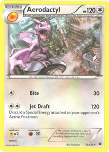 Pokemon Card - Fates Collide 76/124 - AERODACTYL (rare) - NM/Mint