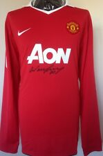 Manchester United Player Issue Shirt Signed By Rooney With Letter Of Guarantee