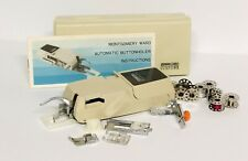 NOS Vintage MONTGOMERY WARD Automatic Buttonholer Attachment 9259 & Accessories