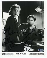 X-Files Cast Anderson Duchovny Autographed Signed 8x10 Photo Authentic BAS COA