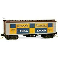 Micro-Trains Z Kingan's Ham & Bacon 36' Wood Sheathed Ice Reefer  MTL05800130