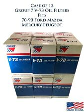 Case of 10 Group 7 V-73 Engine Oil Filter Fits 70-90 Ford Mazda Mercury Peugeot