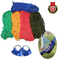 Swing Outdoor Travel Camping Hammock Nylon Portable Mesh Hanging Sleeping Bed